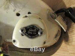 Vintage 1960 Large HGU-2/p Flight Pilots Helmet USAF air force captain