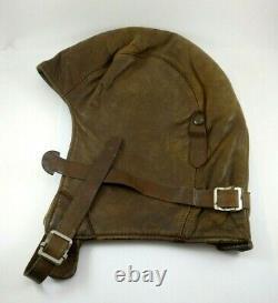 Vintage British RAF or Canadian RCAF WWI Leather Flight / Pilot Helmet