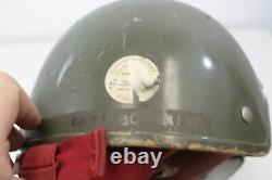 Vintage Gentex Helicopter Pilot Flight Helmet Black Sun Visor Radio Equipment