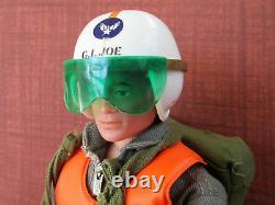 Vintage Gi Joe Action Pilot w Flight Suit and Crash Helmet