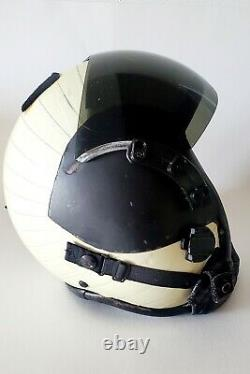 Vintage HGU-GENTEX 68/P USA Jet Pilot Flight Helmet Size L