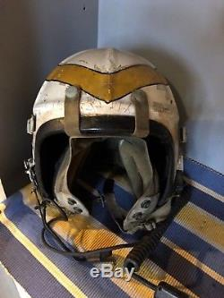 Vintage Korean War Fighter Pilot Flight Helmet