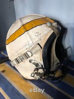 Vintage Korean War Fighter Pilot Flight Helmet
