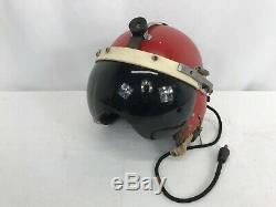 Vintage US Air Force P-4A Pilots Red Flight Helmet