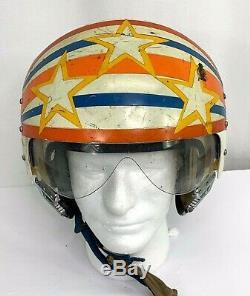 Vintage US Coast Guard Pilots Flight Helmet