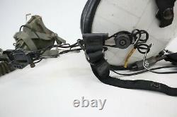 Vintage USA Gentex HGU-84 Flight Pilot Helmet & MBU5/P Oxygen Mask withComms, Mic