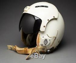 Vintage USAF Pilot Flight Helmet MIL-H-26671B Large with MBU-5/P Oxygen Mask