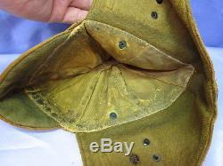 Vintage WW1 Leather US Air Service Pilots Flight Helmet GREAT HELMET