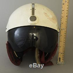 Vtg Canadian Fighter Pilot Helmet Air Force Flight Visor Gentex DH-411 Medium