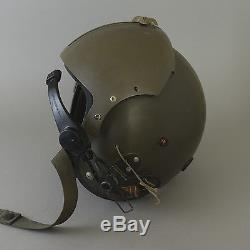 Vtg Vietnam Pilot Helmet Air Force Flight Visor Sierra APH- 5 Microphone Medium