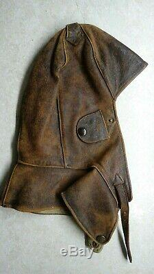 Vtg Ww2 Wwii German Luftwaffe Aviator Pilot Leather Flight Helmet Prym 4