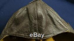 Vtg Ww2 Wwii German Luftwaffe Aviator Pilot Leather Flight Helmet Prym 4 Rare