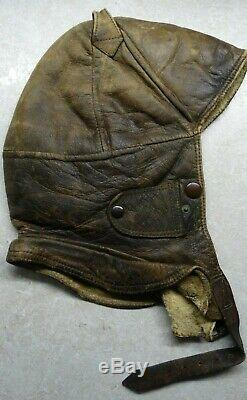 Vtg Ww2 Wwii German Luftwaffe Aviator Pilot Winter Leather Flight Helmet Prym