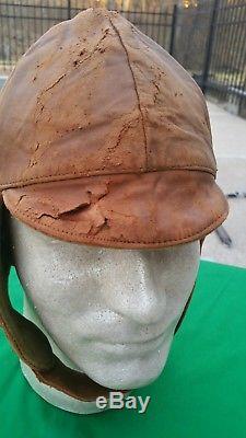 WW1 US Air Service Pilots Flight Helmet Depot mkd