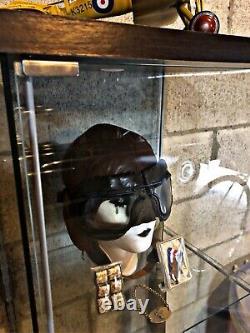 WW2 Canadian RCAF 1942 Flight Goggles & Helmet + Gold WW2 Pilot Bracelet