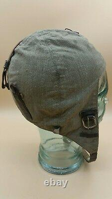 WW2 German Luftwaffe FK-34 Summer Pilots Flight Crew Helmet Hat SCARCE