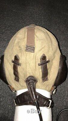 WW2 German Luftwaffe Summer Pilots Flight Flying Helmet LKpS101