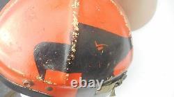 WW2 H-4 Pilot Flight Helmet Size Large MFG Gentex Custom Painted Named