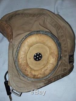 WW2 USN Pilot Tan Summer Flight Helmet (Meidum) by SLOTE & KLIEN, INC
