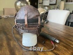 WW2 WWII Pilot Flight Helmet A11, AN6530 Googles, A14 Oxygen mask AAF USAAF #2