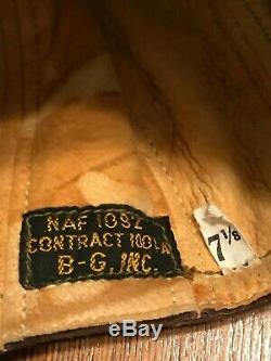 WW2 WWII USN NAF 1092 Leather Pilot Flight Hat Helmet Cap/Identified/Deadstk