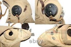 WWII RAF Air Force Tropical Fighter Pilot Flight Helmet Mint Very Rare Beautiful