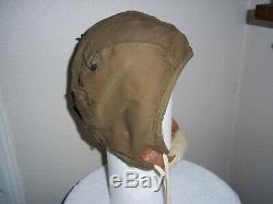 Wwii Us Army Air Force A-9 Flight Helmet Pilot Size Large