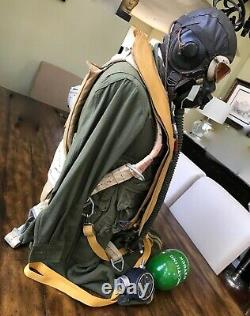Wwii Ww2 Pilot Flight Red Group Qac Parachute Harness, Helmet & Uniform Group